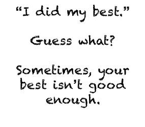 you re not good enough